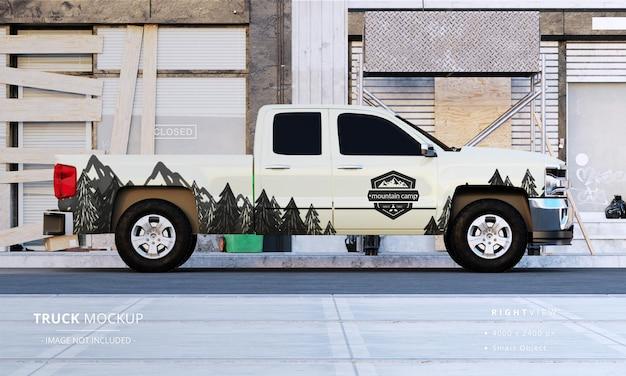 Maquette de camionnette à cabine double vue du côté droit