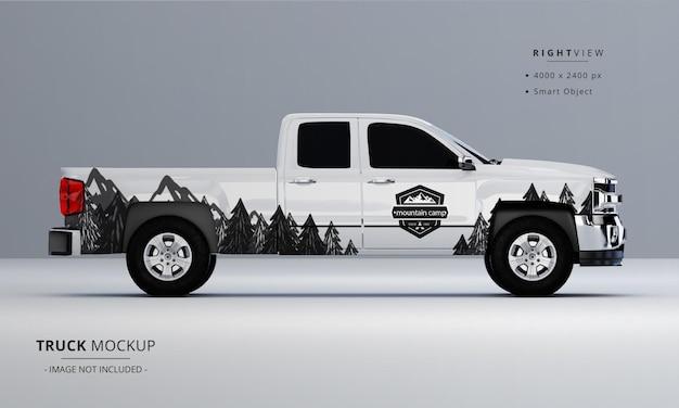 Maquette de camionnette à partir de la vue latérale droite