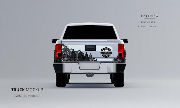 Maquette de camionnette de vue arrière