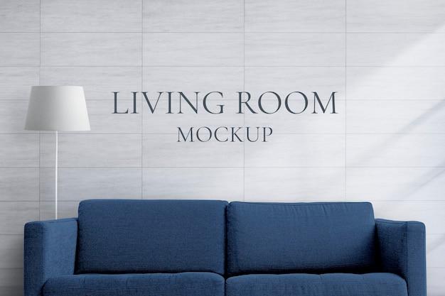 Maquette de canapé à la maison, meubles de salon psd