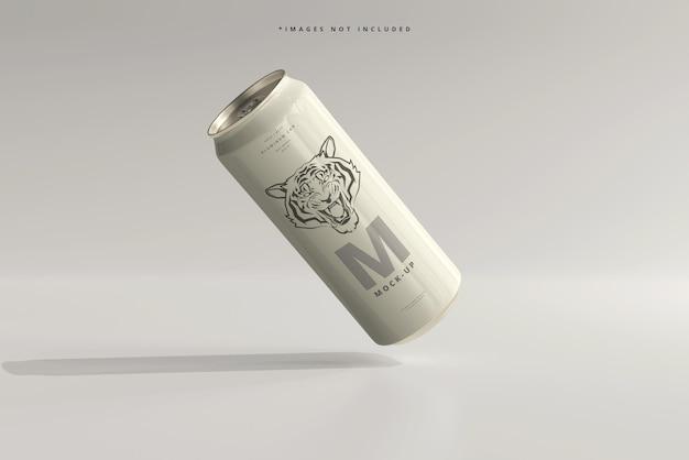 Maquette de canette de bière ou de soda élégant de 500 ml