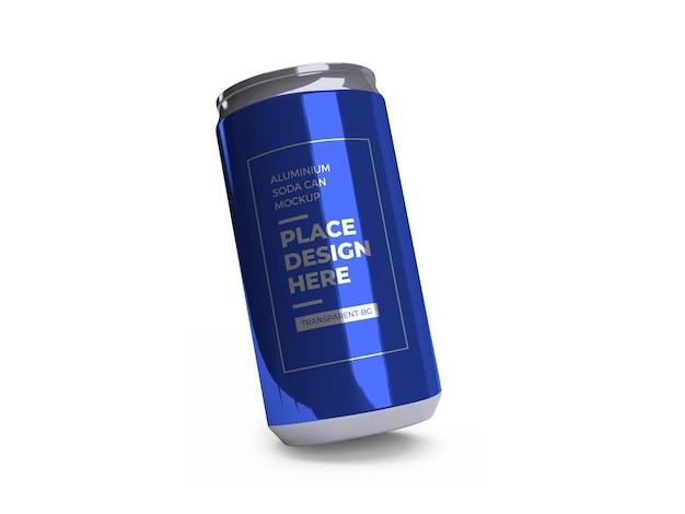 Maquette de canette de boisson gazeuse en aluminium