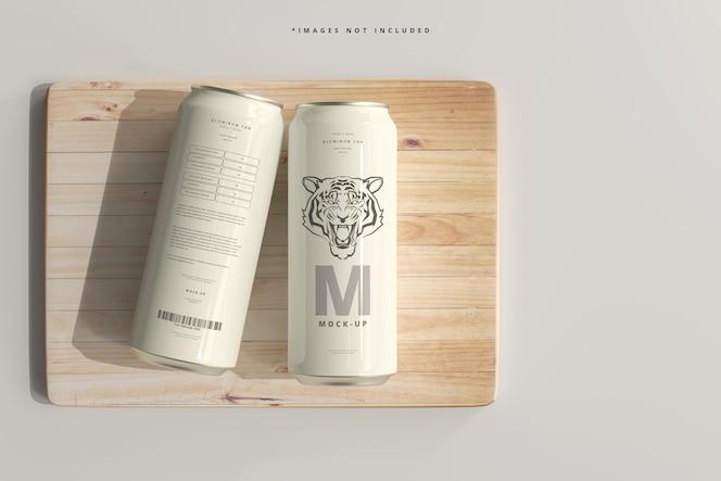 Maquette de canette de soda ou de bière