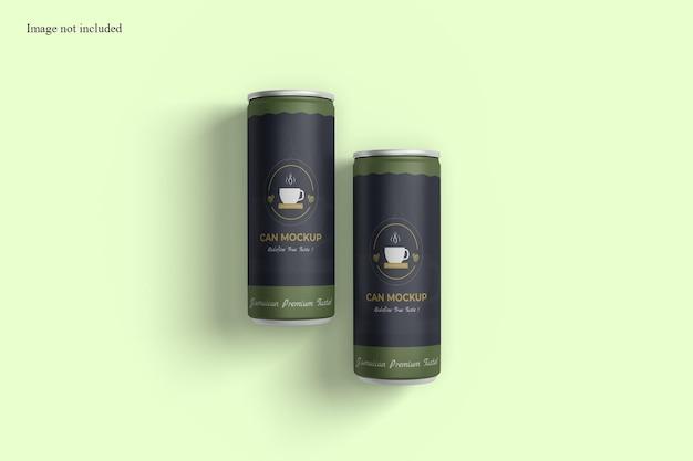 Maquette de canette de soda minimaliste pour votre produit