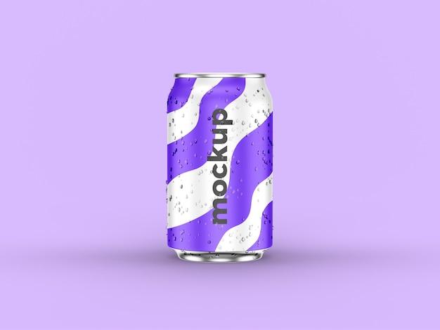 Maquette de canette de soda réaliste