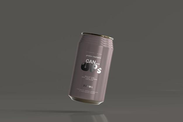 Maquette de canette de soda standard de 330 ml