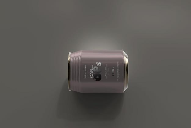 Maquette de canette de soda stubby de 250 ml