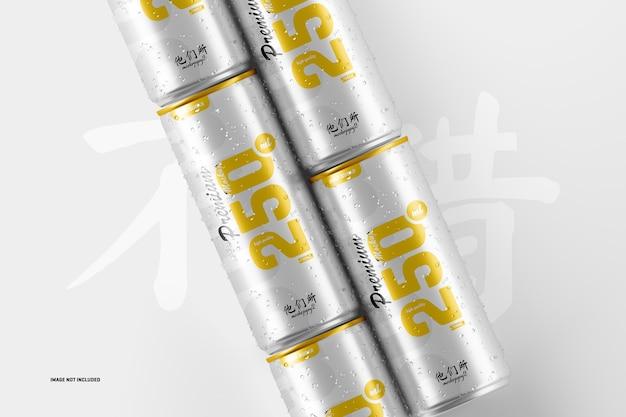 Maquette de canettes de soda 250 ml