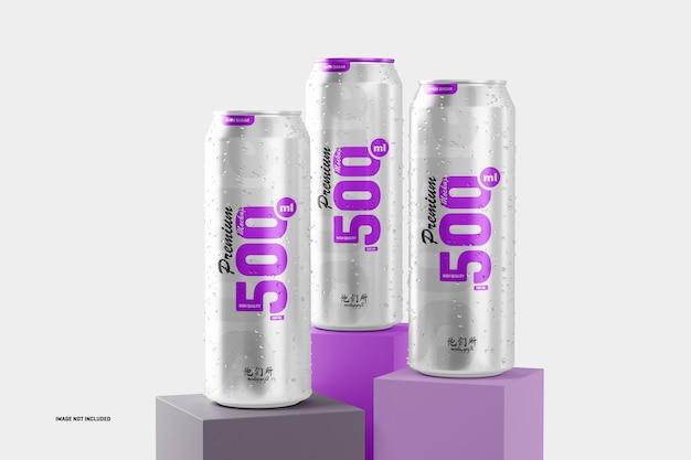 Maquette de canettes de soda 500 ml