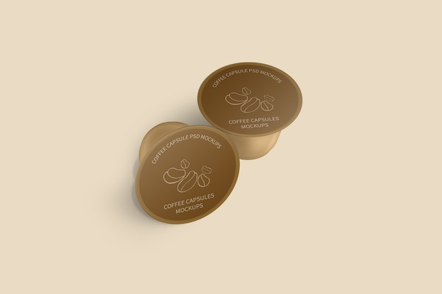 Maquette de capsule de café
