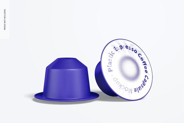 Maquette de capsules de café expresso en plastique