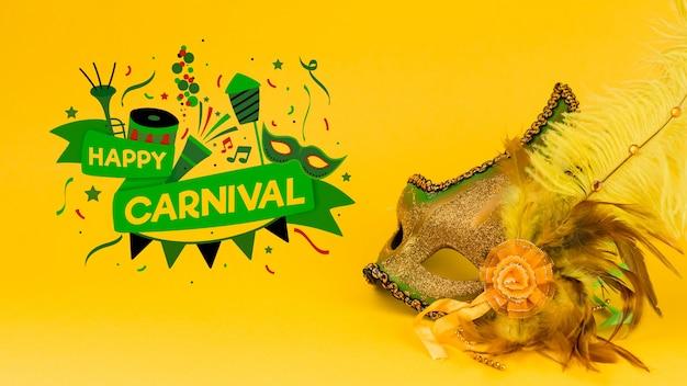 Maquette de carnaval avec une image de masque