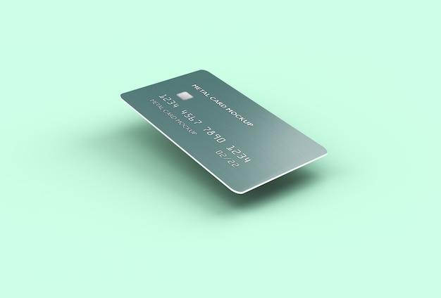 Maquette de carte bancaire de crédit flottant isolée