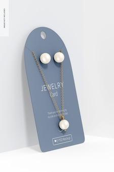 Maquette de carte de bijoux