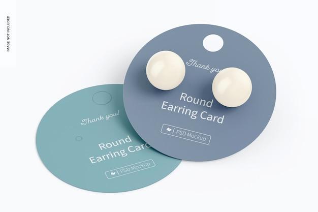 Maquette de carte de boucle d'oreille ronde, empilée