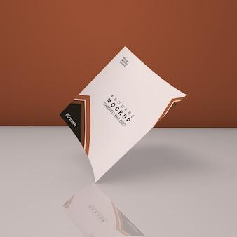 Maquette de carte carrée élégante et belle
