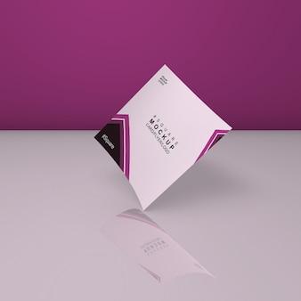 Maquette de carte carrée simple et belle