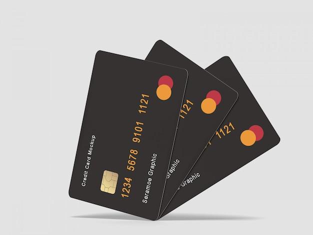 Maquette de carte de crédit / bancaire