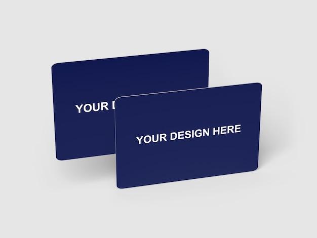 Maquette de carte de crédit / banque