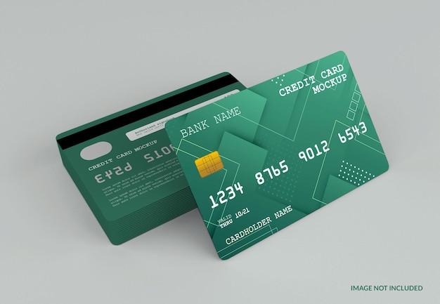 Maquette de carte de crédit moderne isolée