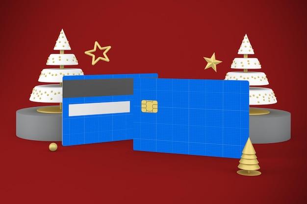 Maquette de carte de crédit de noël