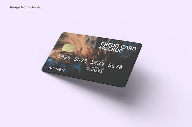 Maquette de carte de crédit réaliste