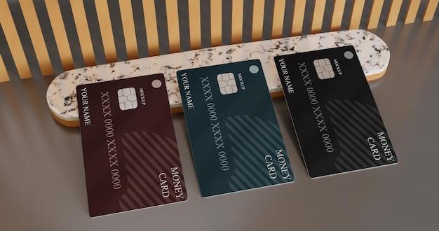 Maquette de carte de débit carte d'argent numérique minimaliste