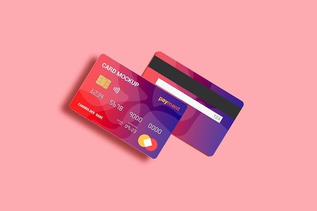 Maquette de carte de débit de carte à puce avant et arrière