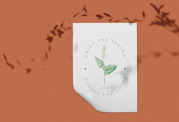 Maquette carte florale