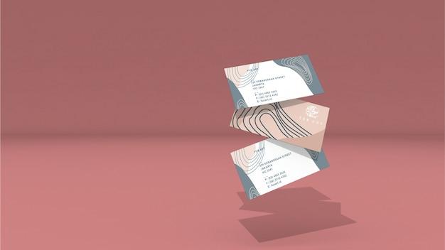 Maquette de carte d'identité volante