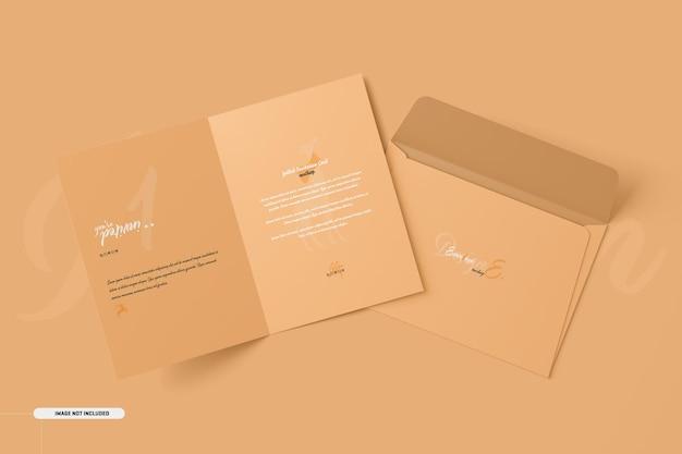 Maquette de carte d'invitation pliée a5 a6