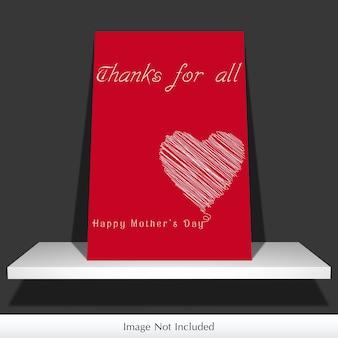 Maquette de carte de jour de mère
