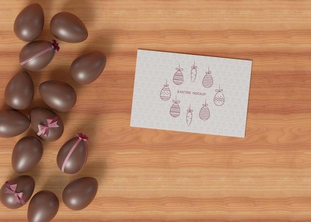 Maquette de carte de joyeuses pâques