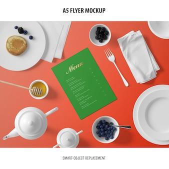Maquette de carte de menu