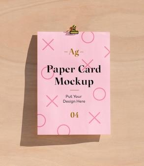 Maquette de carte papier