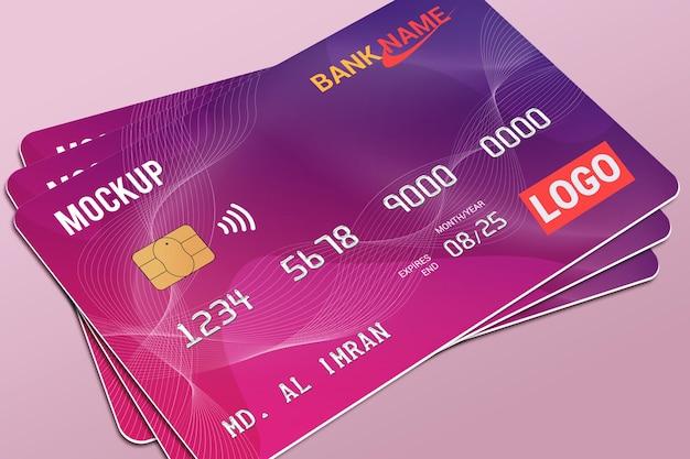 Maquette de carte en plastique de carte de débit de carte à puce
