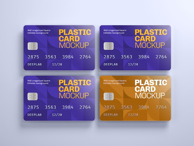 Maquette De Carte En Plastique Avec Couleur De Fond Modifiable PSD Premium