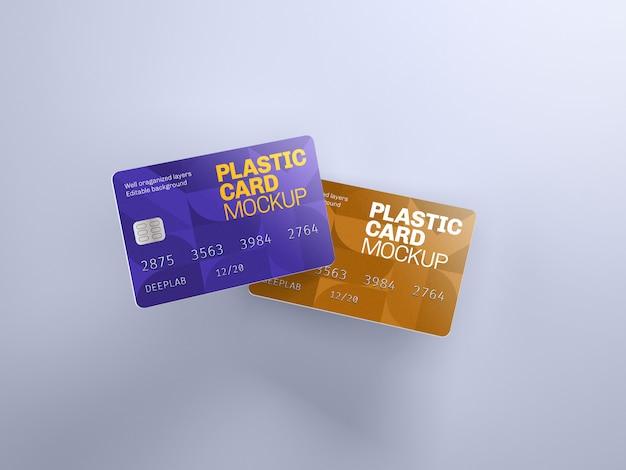Maquette de carte en plastique avec couleur de fond modifiable