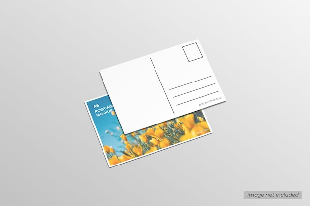 Maquette de carte postale a6
