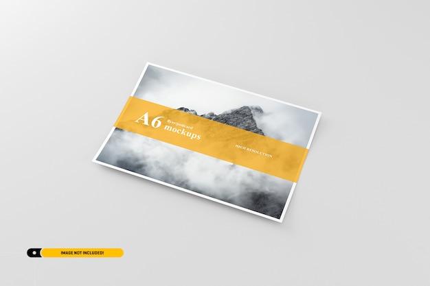 Maquette carte postale / dépliant a6