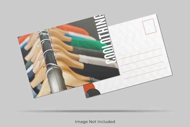 Maquette de carte postale flottante