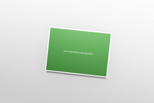 Maquette de carte postale flyer