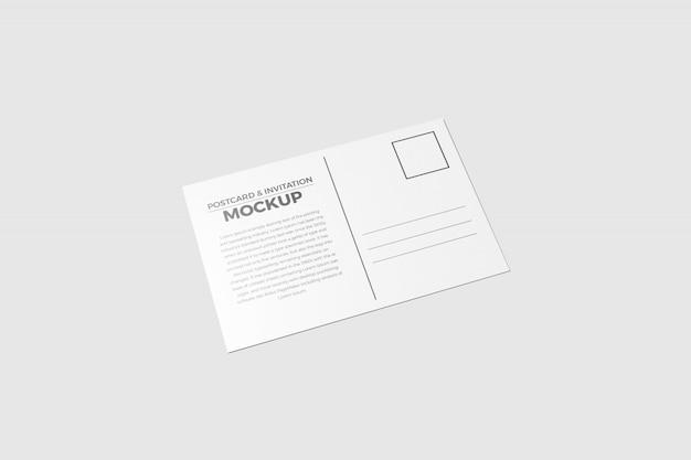 Maquette de carte postale et d'invitation