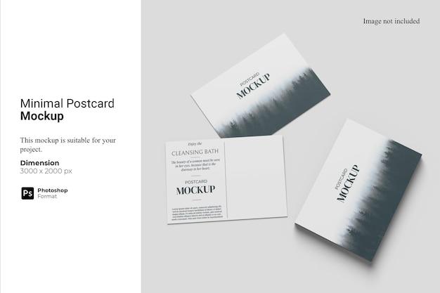 Maquette De Carte Postale Minimale PSD Premium