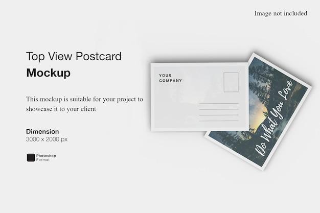 Maquette de carte postale vue de dessus