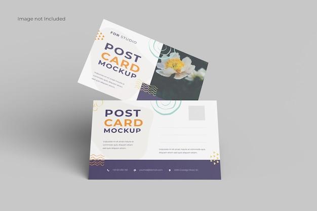 Maquette de carte postale vue de face