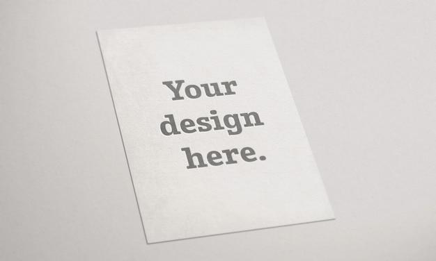 Maquette de carte réaliste sur papier