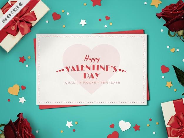 Maquette de carte saint valentin