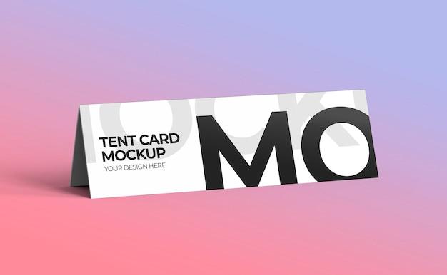 Maquette de carte de tente de nom 3d pour affichage a4