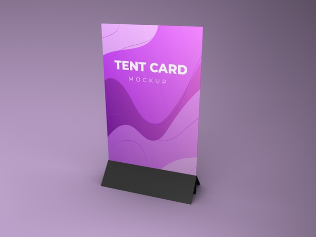Maquette de carte de tente